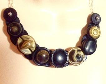 Sensational Celluloid button necklace