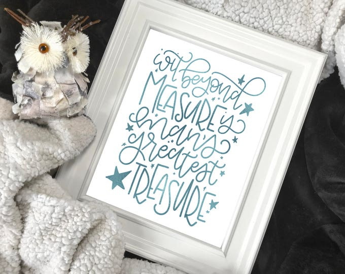 """Featured listing image: """"Wit Beyond Measure"""" Foiled Print 