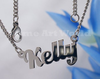 Kelly   name necklaces. stainless steel. next day ship. never tarnishes. shiny silver color