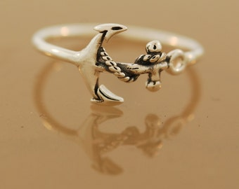 Anchor Ring Sterling Silver