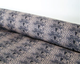 Black spotted brown coupon, 50 x 50 cm, cotton fabric