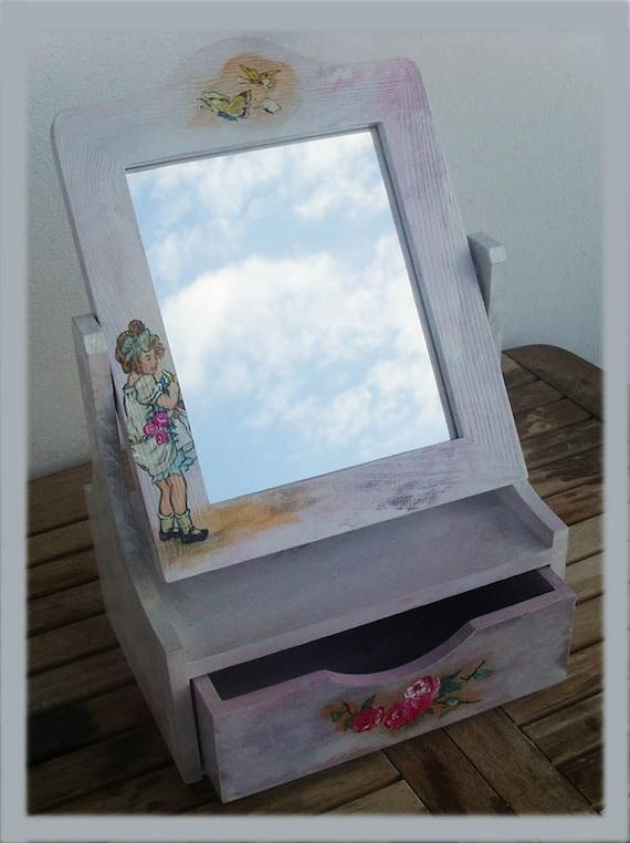 Wooden Keepsake Box - Little Girl With Roses