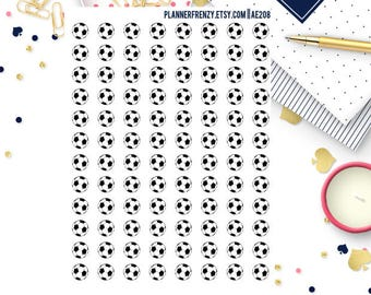 96 Soccer Ball Planner Stickers! - A perfect fit for any planner! AE208