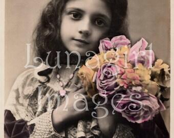 LITTLE GIRLS 500 vintage photos, Victorian Edwardian children pictures Paris postcards, digital ephemera DOWNLOAD altered art crafts jewelry