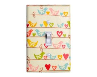 Bird Light Switch Plate Cover / Girls Kids Room / Baby Nursery Decor / Sweetest Bird by Riley Blake