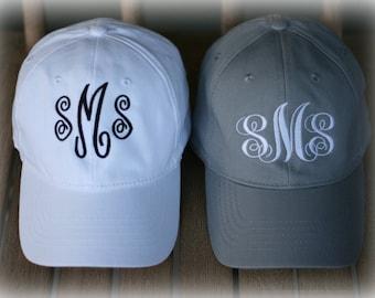 Monogram Ballcaps- Save on 2 Hats- Ladies Monogram Hats-Summer Hat-Preppy Ballcap-Girls Trendy Gift-Personalized Gift-Me and Mom Ballcap