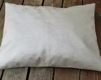 Pet Bed Cover Duvet, Faux Tan Suede & Green Twill, Canine Cloud Dog Bed Cover 24 x 18, Pet Furniture, Gift