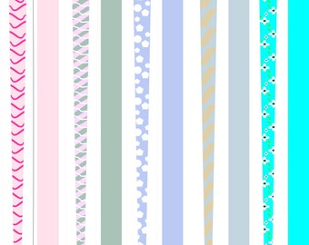 Paper Bead Templates, For making Paper Beads, 5 pages, Printable Paper Beads, DIY, Beads,