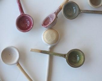 ceramic spoon , handmade