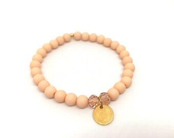 Bracelet Acrylic beads Rose