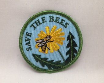 Save the Bees Embroidered Scouting Patch