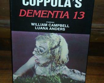 Dementia 13 Vintage VHS Cassette Tape