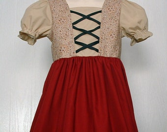 Girls  Swiss Miss, Heidi, Hansel, Gretel, Peasant Dress,Dirndl Sound of Music. Ready to Ship