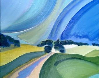 Original painting Oil painting Original artwork Original art Abstract art Landscape art Modern art Modern painting Landscape original