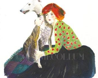 Greyhound, Dog Art, Greyhound art,greyhound prints, greyhounds,greyhound art