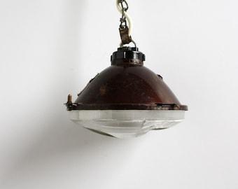 Vintage pendant | industrial, lighting, metal, vintage, headlight, retro gift, light