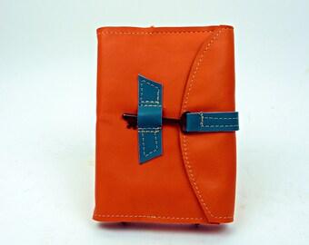 Orange nachfüllbar lederbuch mit Skelett-Schlüssel