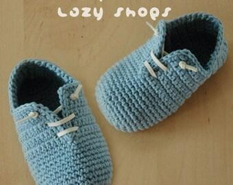 Crochet Pattern - Slip-On Baby Lazy Booties Preemie Sneaker Newborn Socks Slip On Shoes Home Slippers Crochet Pattern (SLS01-B-PAT)