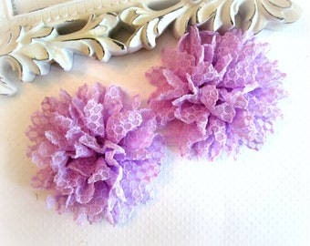 Light Purple Lace Flower. 2 Pcs.