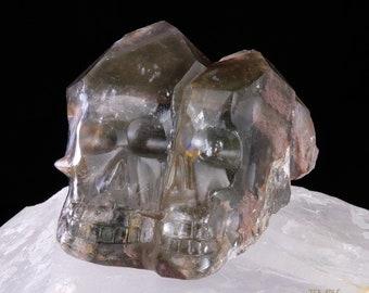 3rd Eye Rainbow * Twin Chlorite Crystal Skull *** L15.hc21