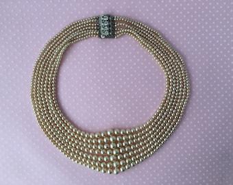 Vintage Multi-strand pearl necklace