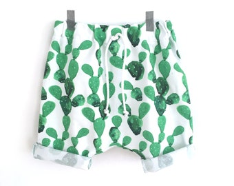 CACTUS harem shorts - toddler shorts - baby girl - baby boy