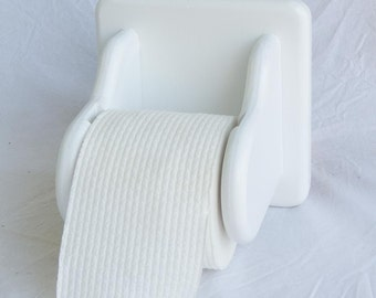 Toilet Roll Holder - Wooden - Square Back - Wooden drop-in spindle - Holds standard toilet paper rolls