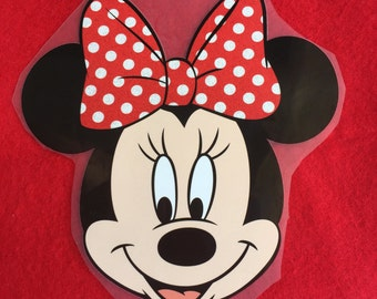 Red Minnie Iron-On Heat Transfer ~~Decorate all the clothing ,bags or other fabrics.