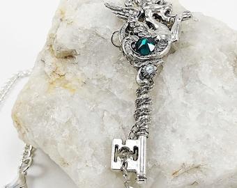 Dragon Key Pendant - Dragon Key Necklace - Keys - Key Pendant - Fantasy Key - Magical Key