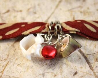 Cloth bracelets with charms