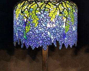 Tiffany Table Lamp, Tiffany Lamp, Tiffany Wisteria, Table Lamp, Lamp, Stained Glass Lamp, Bespoke Glass, Tiffany Lamp Replica, Tiffany lamps