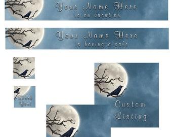 Ravens Moon Etsy Premade Sho Banner