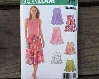 Skirt Pattern / Summer Skirt Pattern / New Look S6461 / Easy Skirt Pattern / Large Skirt Pattern / Medium Skirt Pattern / UNCUT