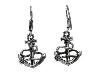 Anchor Earrings Large Oxidized    Gifts For Her    Beautiful Earrings