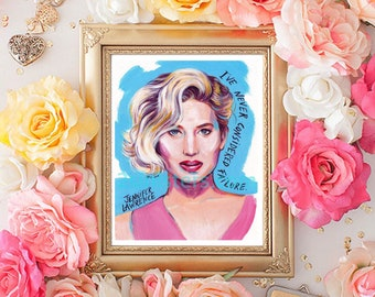 Jennifer Lawrence print