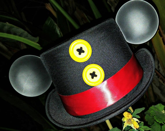Custom Mickey Mouse Ears. Mickey Mouse Top Hat. Original Disneyland Hat. Mickey Mouse Ears. Custom Disney Hat.