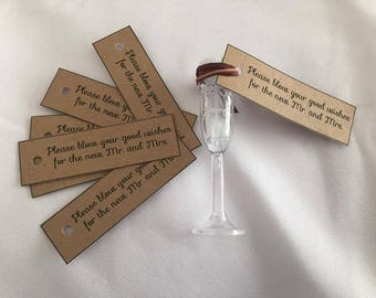 Wedding bubble tags
