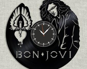 Bon Jovi vinyl record clock, wall clock Bon Jovi, Best Gift for Decor