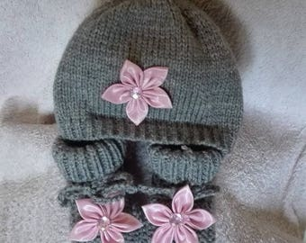 booties and bonnet 0/3 months baby