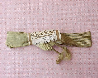 Unsual Edwardian Era Wide Silky Shoe Laces with Fringed Ends