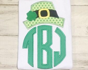 ST PATRICKS DAY Hat monogram, Irish Clover Monogrammed Hat