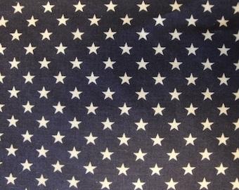 Star Fabric | Cotton Fabric | Americana Fabric | Navy Fabric With Stars | Old Glory Fabric | Flag Star Fabric
