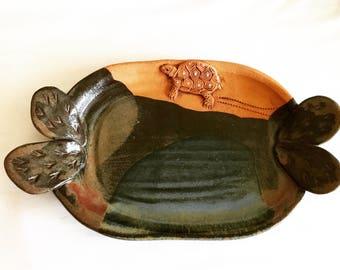 Vintage Stoneware Desert Plate