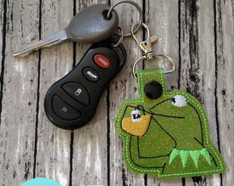 None of My Business Meme Frog Keychain, Snaptab, Zipper pull