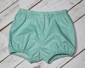 Green cotton Bloomer with water small scales