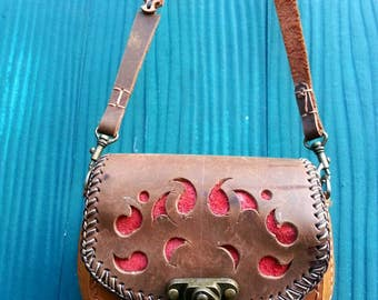 Leather Bag,Crossbody,Brown Colour
