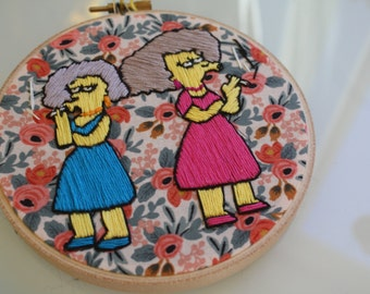 Patty And Selma Floral Embroidery