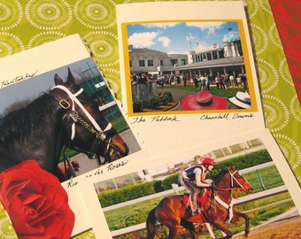 The Kentucky Derby Fine Art Greeting Cards - Set of 3