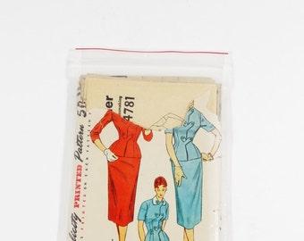 1954 Simplicity 4781 - 1954 Suit Pattern - Misses Two-Piece Suit Dress - Size 14 - 1950s Suit Pattern