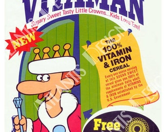 King Vitaman Cereal Box Fridge Magnet 2 x 3